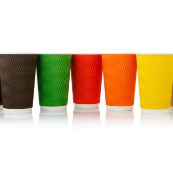 стаканчик бумажный Viva Cup гофрированный