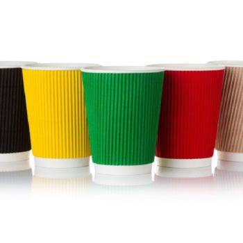 Стаканчик бумажный гофрированный 420 мл Viva Cup